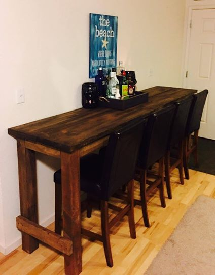 8ft long bar table & chairs (With images) | High top table kitchen .