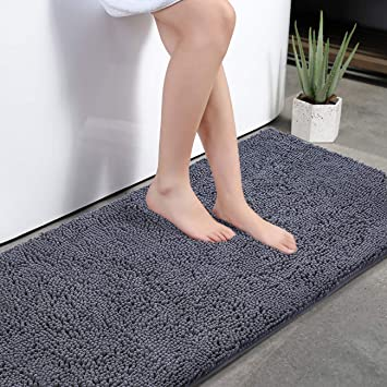 Amazon.com: KMAT Bath Mat Rug Nonslip Plush Chenille Bathroom mat .