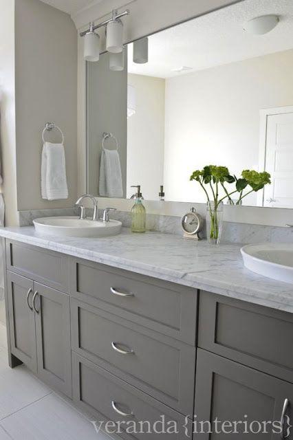 Gray Bathroom Cabinets | Bathroom remodel master, Veranda .