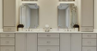Casual Dove Gray Painted Bathroom Cabinets - Ome