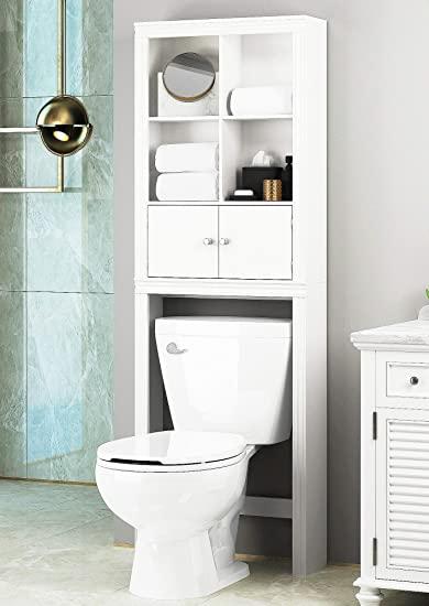 Amazon.com: Spirich Home Bathroom Shelf Over The Toilet, Bathroom .
