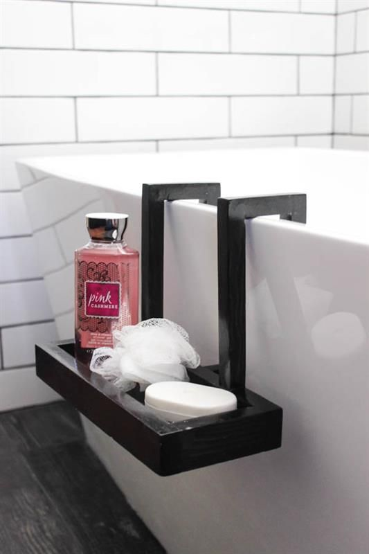 Build this beautiful modern bath caddy for your freestanding tub .