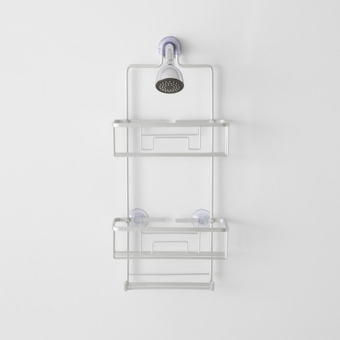 Large Rustproof Shower Caddy With Lock Top Gray - Made By Design .