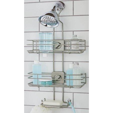 Better Homes & Gardens Adjustable Shower Caddy, Satin Nickel .