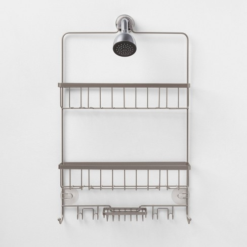 Large Bathroom Shower Caddy Nickel - Made By Design™ : Targ