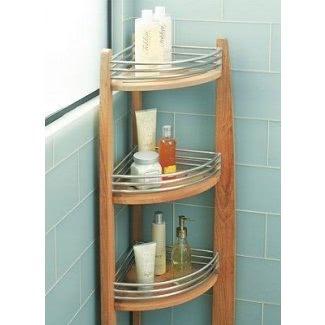 Teak Corner Shower Caddy - Ideas on Fot