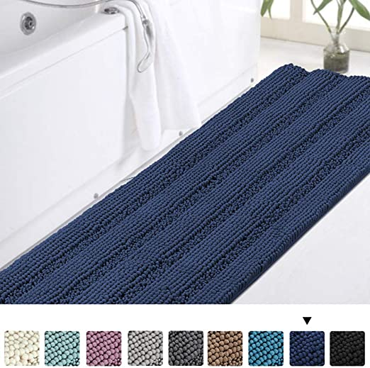 "Amazon.com: Non-Slip Bath Rug Runner Extra Long Bathroom Rug 47""x ."