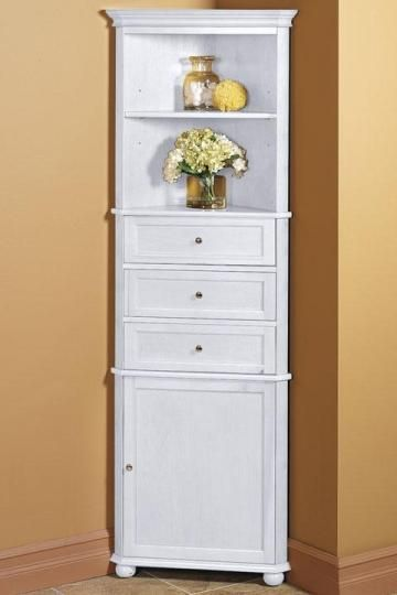 Hampton Bay Corner Linen Cabinet I - Linen Cabinets - Bathroom .