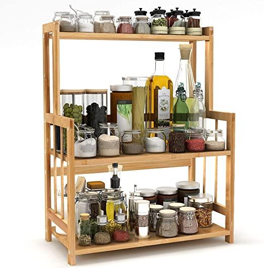 Amazon.com: 3-Tier Standing Spice Rack LITTLE TREE Kitchen .