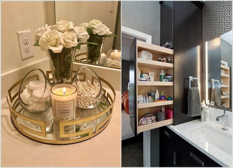 Clever Bathroom Countertop Storage Ide