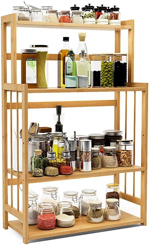 Amazon.com: 4-Tier Standing Spice Rack LITTLE TREE Kitchen .