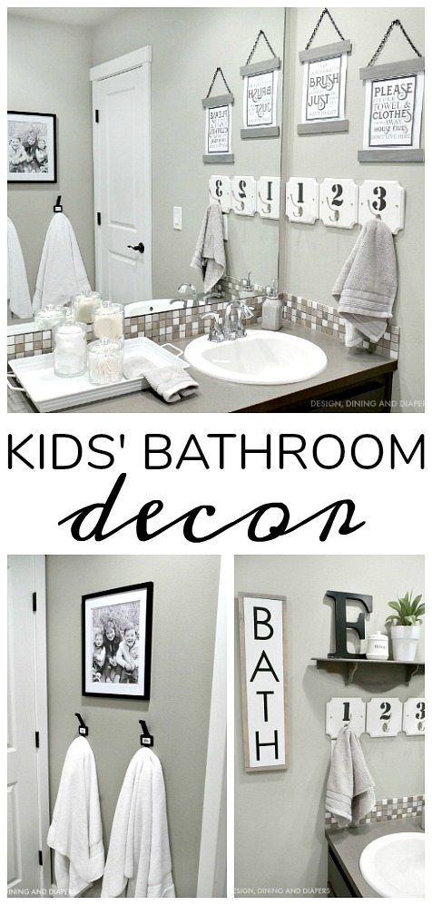 Kids Bathroom Decor - Taryn Whiteak