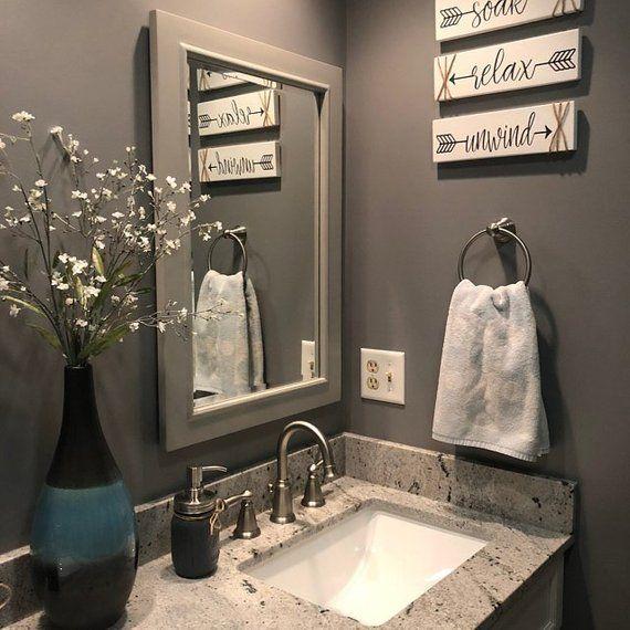 Bathroom Wall Decor Relax Soak Unwind Farmhouse Bathroom Signs .