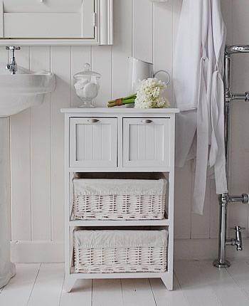 Organizing with Baskets | Freestanding bathroom storage, Small .
