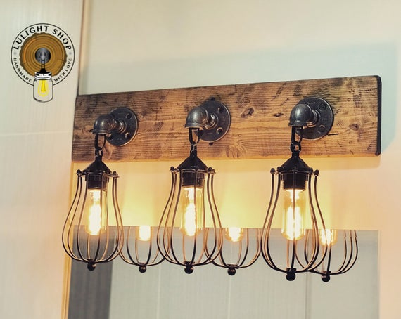 Vanity Light Fixture Rustic Light Fixture Lighting Wall | Et