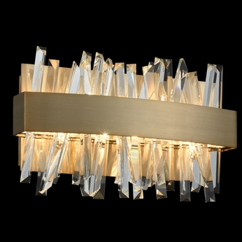 "Allegri 030230-038 Glacier Brushed Champagne Gold LED 12"" Bathroom ."