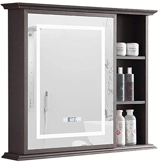 Amazon.com: Medicine Cabinets Bathroom Touch LED Mirror Cabinet .