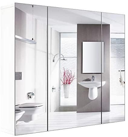 Amazon.com: HOMFA Bathroom Wall Mirror Cabinet, 27.6 inches .