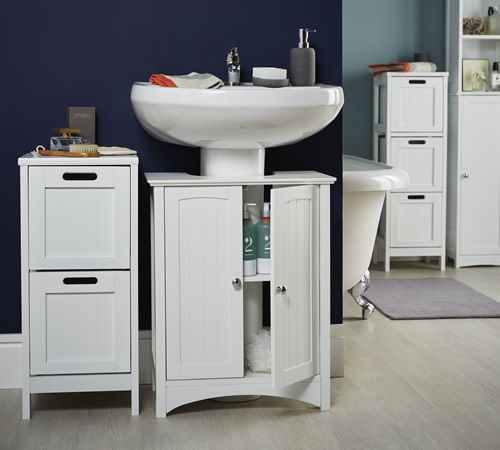 Shaker Style Under Sink Unit | Bathroom sink storage, Under .