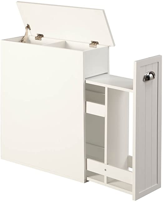 Amazon.com: OakRidge Slim Bathroom Storage Cabinet with Slide-Out .