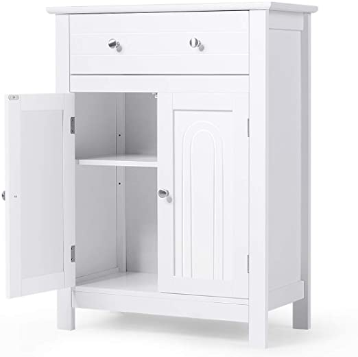 Amazon.com: Tangkula Bathroom Storage Cabinet, Free Standing .