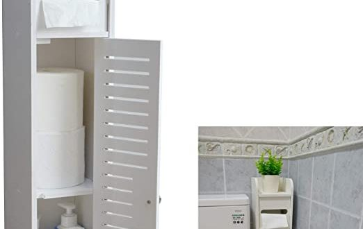 Amazon.com: AOJEZOR Small Bathroom Storage Corner Floor Cabinet .