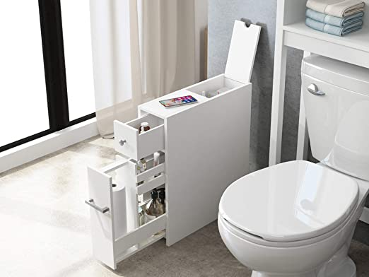 Amazon.com: Spirich Home Slim Bathroom Storage Cabinet, Free .