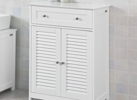 Haotian Bathroom Vanity SetWhite Bathroom Storage Cabinet with .