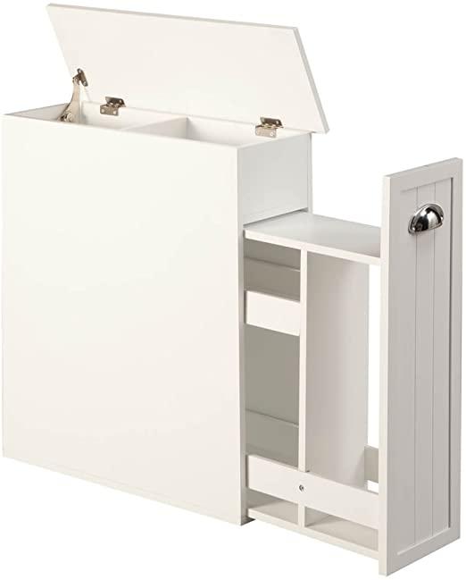 Amazon.com: OakRidge Slim Bathroom Storage Cabinet with Slide-Out .