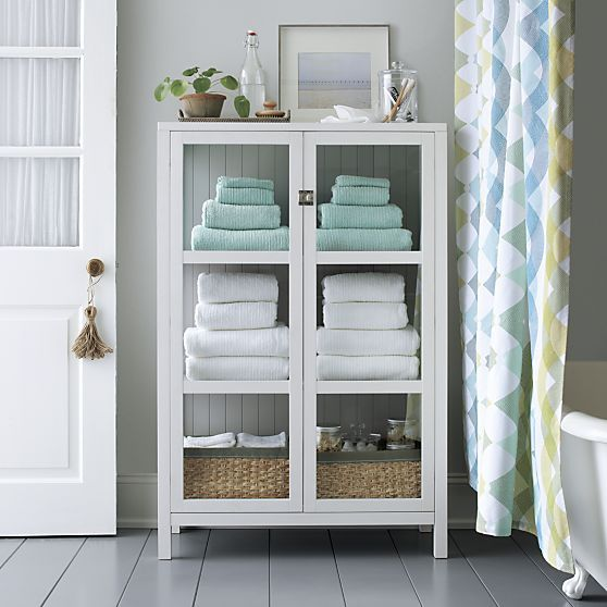 Ribbed White Bath Towel | Bathroom towel storage, Small bathroom .