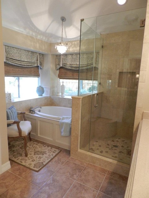 Strange Master Suite & Small Bath - Transitional - Bathroom .