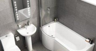 1700mm x 850mm Cesar P Shaped Left Handed Bath Suite - soak.com .