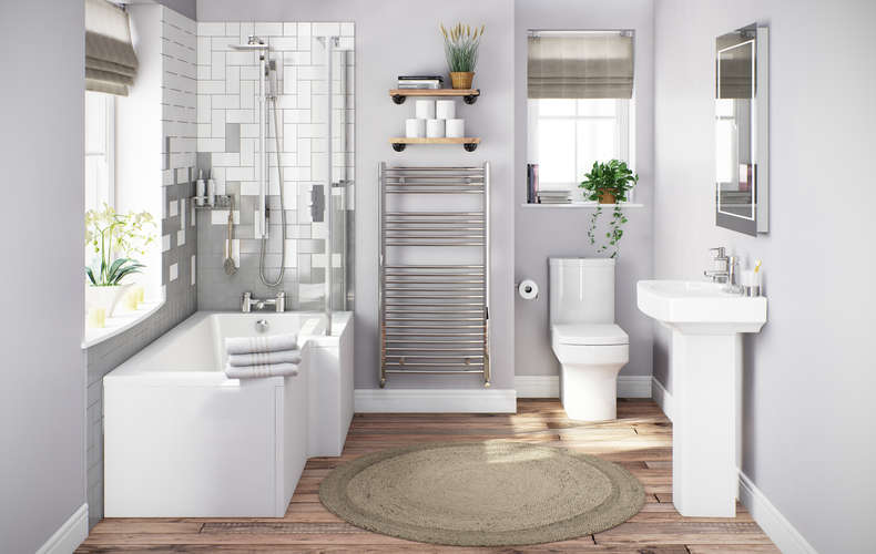 Bathroom suites for small bathrooms | VictoriaPlum.c