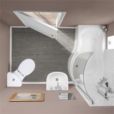 Small Toilets For Small Bathrooms | This image shows Milano Rydal .