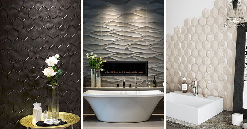 Bathroom Tile Idea - Install 3D Tiles To Add Texture To Your Bathro