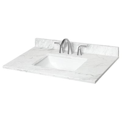 31-in Ariston Natural Marble Bathroom Vanity Top at Lowes.c