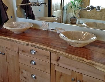 slab wood vanity tops bathrooms | Onyx Vessel Sinks on Natural .