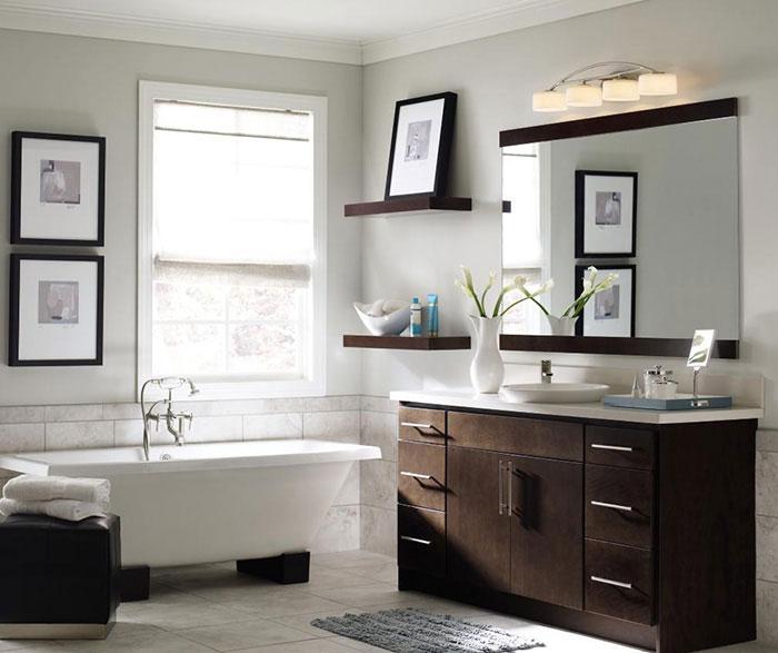 Contemporary Bathroom Vanity - Homecrest Cabinet