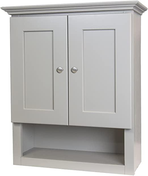 Amazon.com: Shaker Gray 21x26 Bathroom Wall Cabinet: Kitchen & Dini