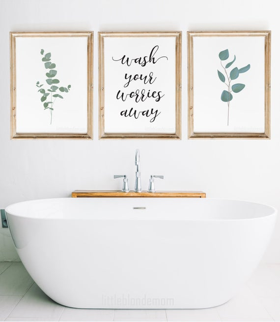 Bathroom Wall Decor Set of 3 Wall Art Farmhouse Wall Art | Et