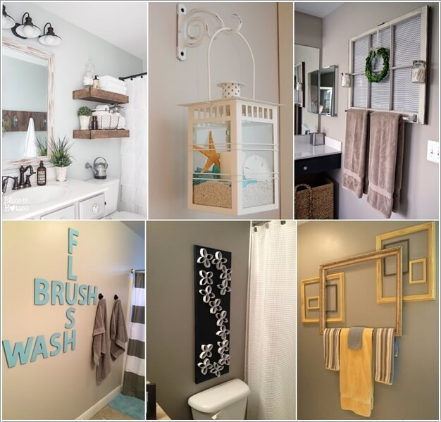 10 Creative DIY Bathroom Wall Decor Ide