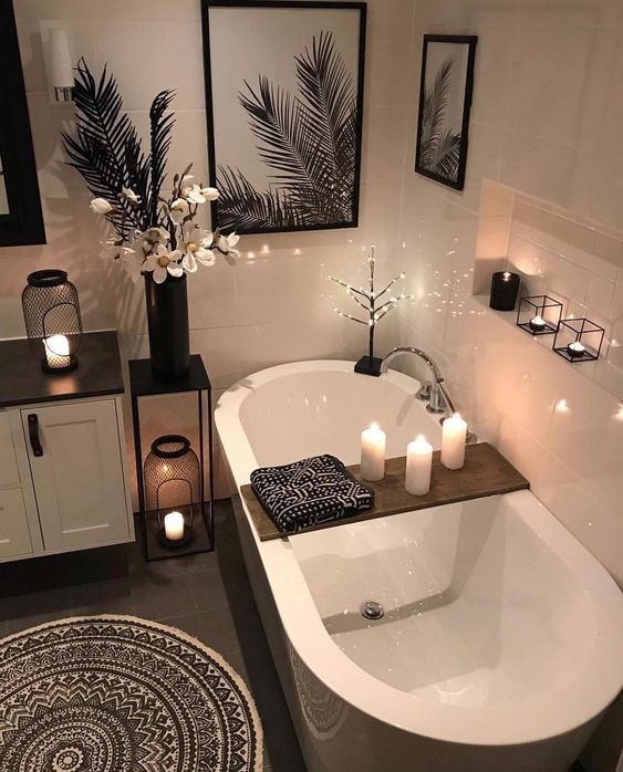 Beautiful Bathroom Wall Decor Ideas With Luxury Style 20
