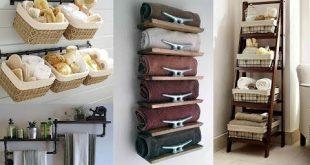 25 Small Bathroom Storage Ideas - Wall Storage Solutions - YouTu