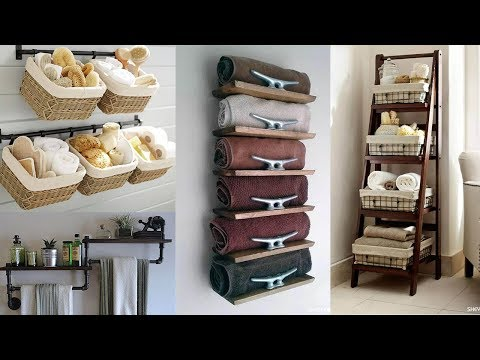 25 Small Bathroom Storage Ideas - Wall Storage Solutions - YouTu