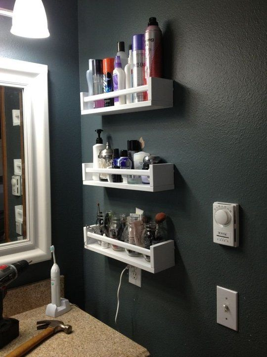 26 SImple Bathroom Wall Storage Ideas - Shelterne