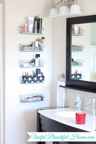 Vertical Vanity Organization For Your Bathroom | Bathroom wall .
