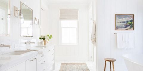 15 White Bathroom Ideas - Decorating White Bathroo