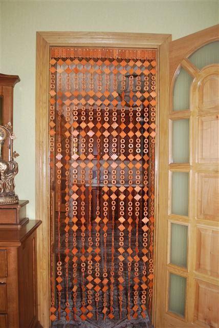 Beaded doorway curtain.....now this brings back memories (With .