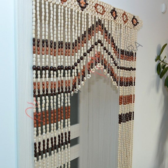 Wooden Door curtain Wood curtain Wood blinds Door Beads Beaded | Et