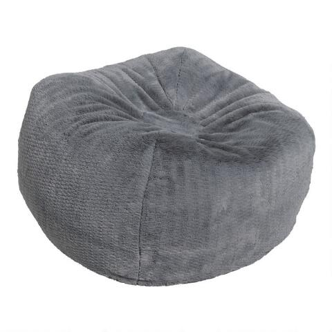 Gray Patterned Bean Bag Chair | World Mark